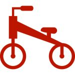 nu red old school bike icon