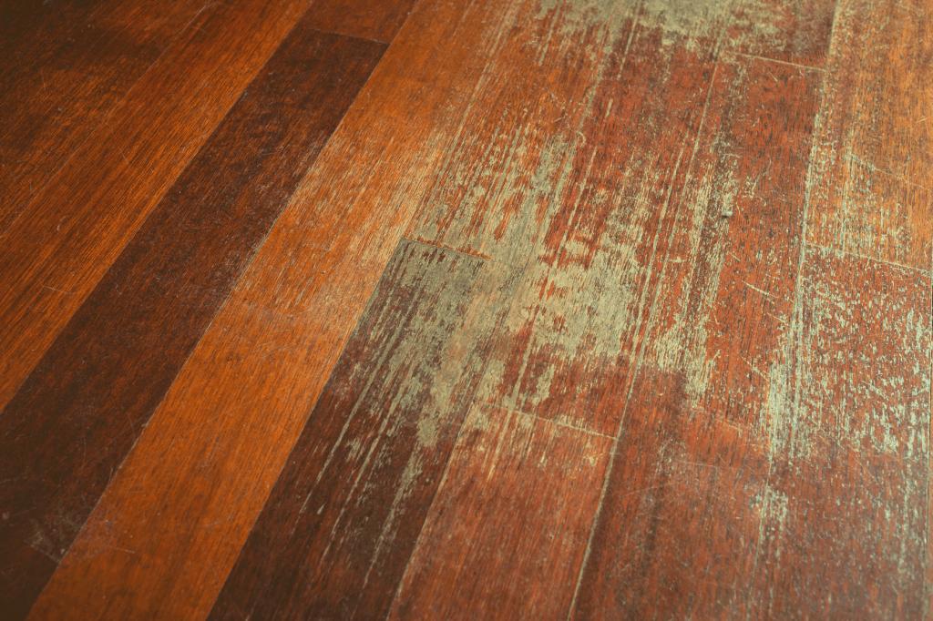 image of badly worn hardwood floor