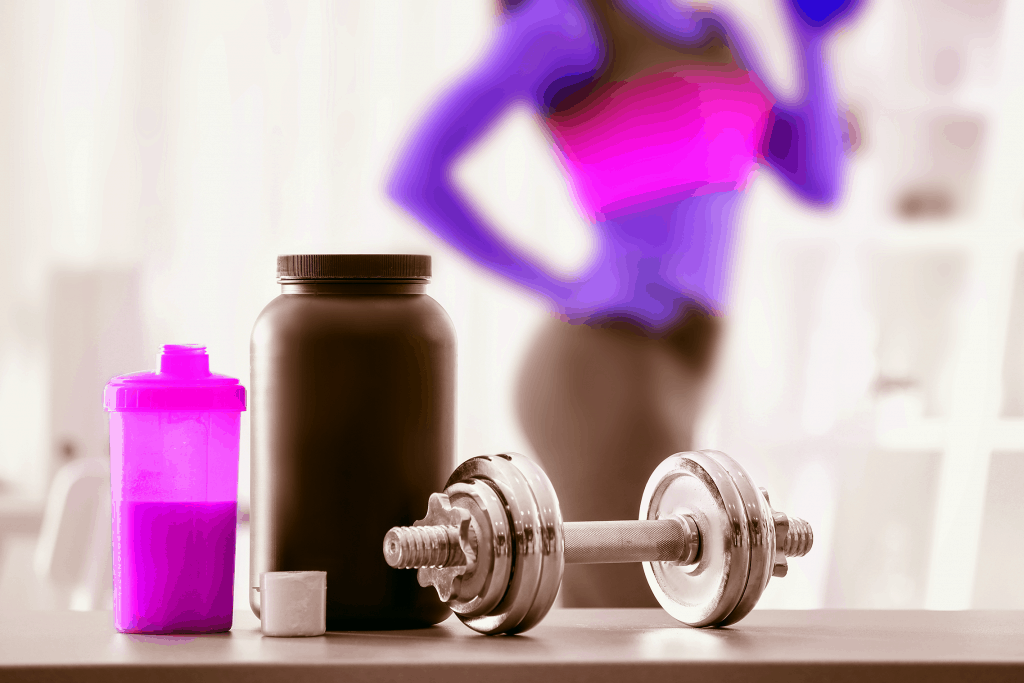 Woman drinking pre-workout drink - heydayDo image