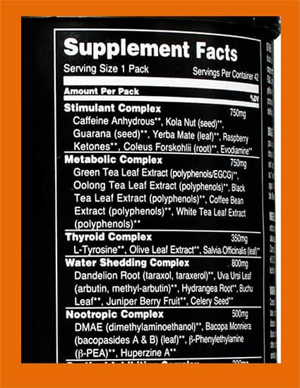 Supplement Facts label with multiple proprietary blends - heydayDo image
