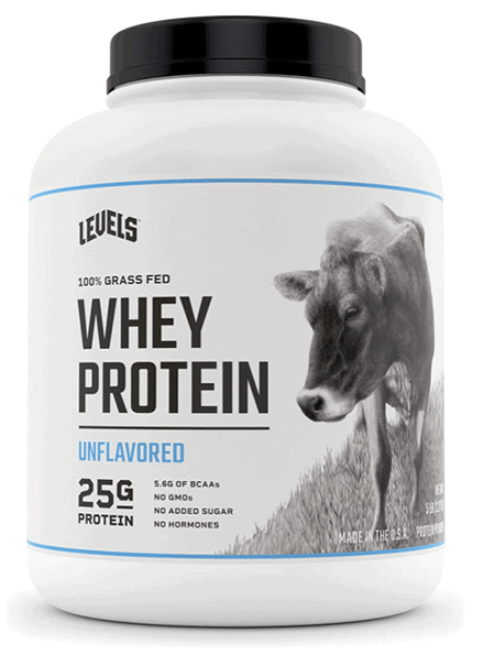 Levels 100% Grass Fed Whey Protein Unflavored - heydayDo image copy