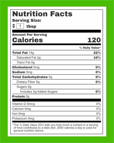 Olive Oil nutrition facts - heydayDo image