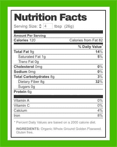 flaxseed meal nutrition facts - heydayDo image