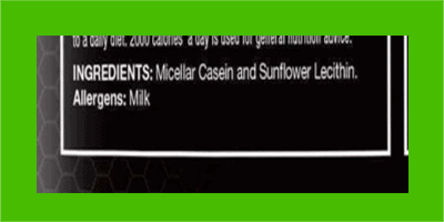 Muscle Feast Casein ingredients - heydayDo image