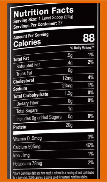 Muscle Feast nutrition facts - heydayDo image