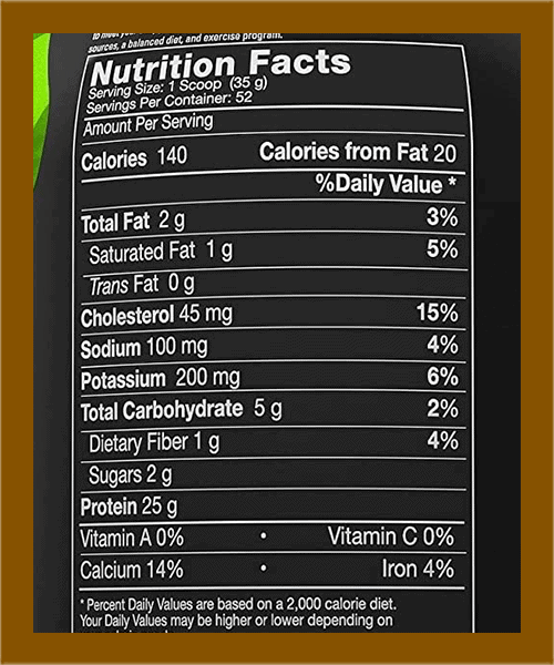 MusclePharm Combat Protein Nutrition Facts - heydayDo image