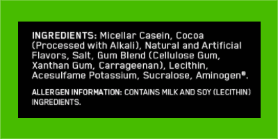 Optimum Nutrition casein ingredients - heydayDo image