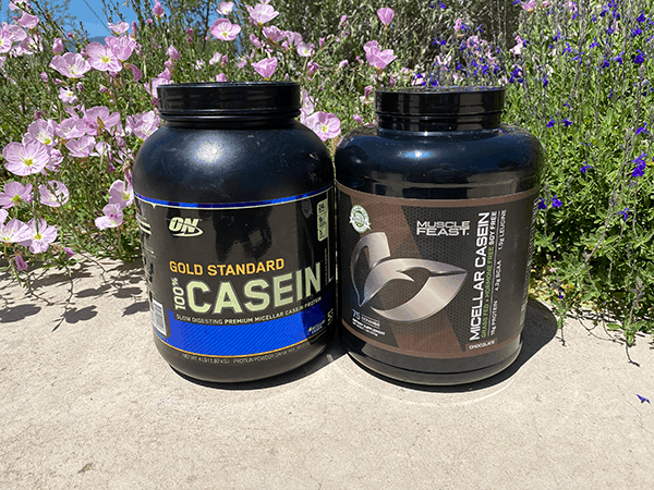 Muscle Feast grass fed casein vs Optimum Nutrition casein - heydayDo image