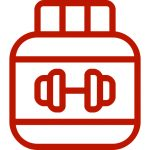 protein powder jug red - heydayDo icon