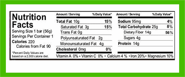 Aloha protein bar nutrition facts - heydayDo image