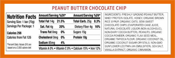 Good2Go protein bar nutrition facts - heydayDo image