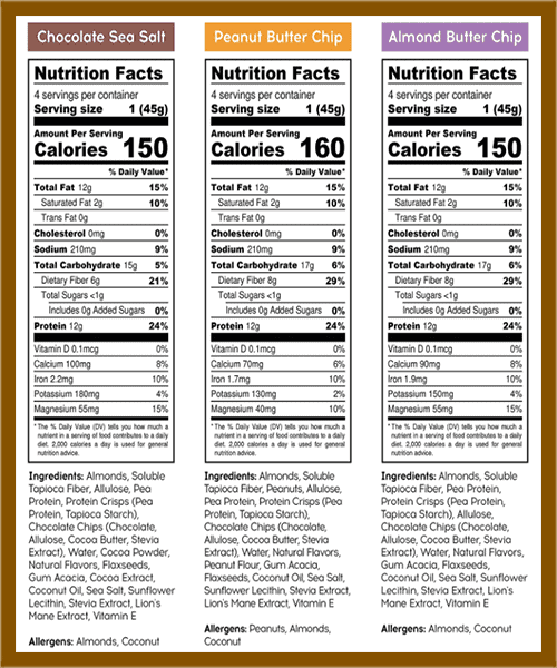 IQBar protein Bar nutrition facts - heydayDo image