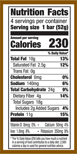 Larabar protein bar nutrition facts - heydayDo image
