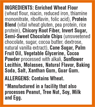 Lenny & Larry Complete Cookie ingredients - heydayDo image