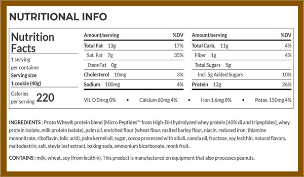 Power Crunch protein bar nutrition facts - heydayDo image