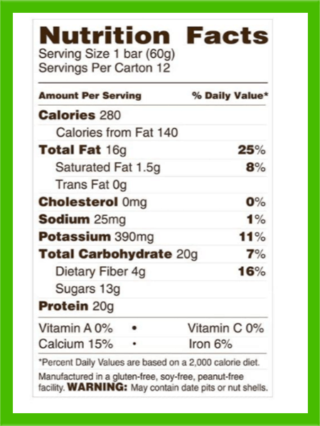 Rise protein bar almond honey nutrition facts - heydayDo image