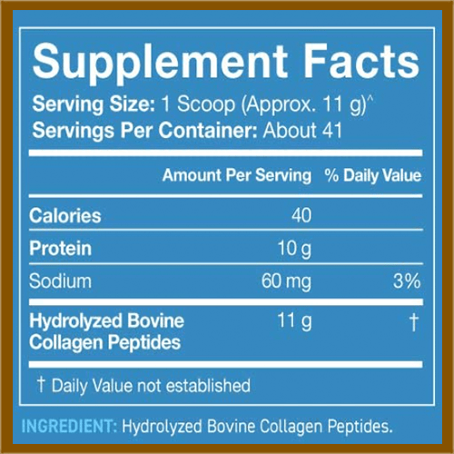 Sports Research Collagen Peptides Supplement Facts - heydayDo image