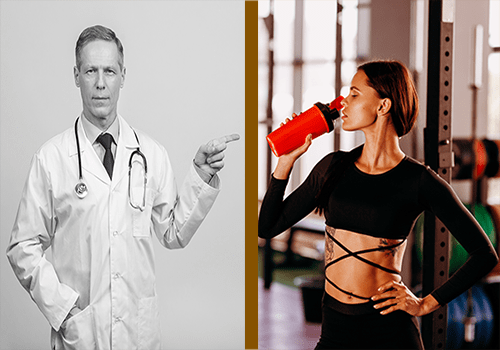 Supplement marketing then (doctor) and now (fitness model) - heydayDo image
