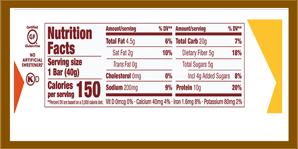 thinkTHIN lean protein bar nutrition facts - heydayDo image