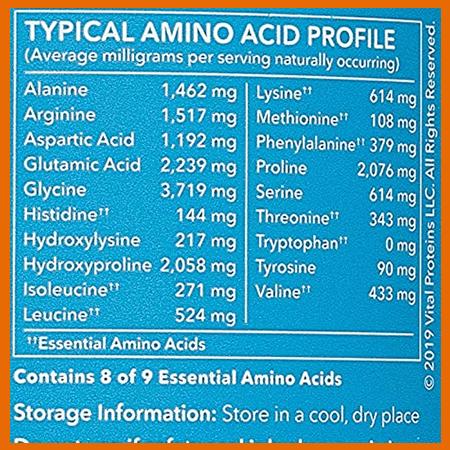 Vital Proteins amino acid profile - heydayDo image