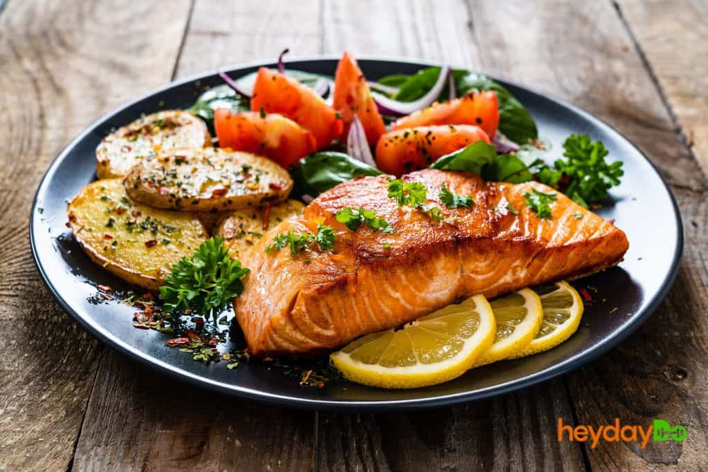 Salmon's a good natural source of creatine - heydayDo image