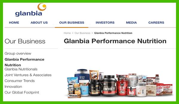 Glanbia fitness product brands - heydayDo image