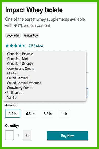 MyProtein Impact Whey flavors - heydayDo image