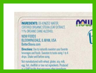 Now Foods better stevia liquid ingredients - heydayDo image