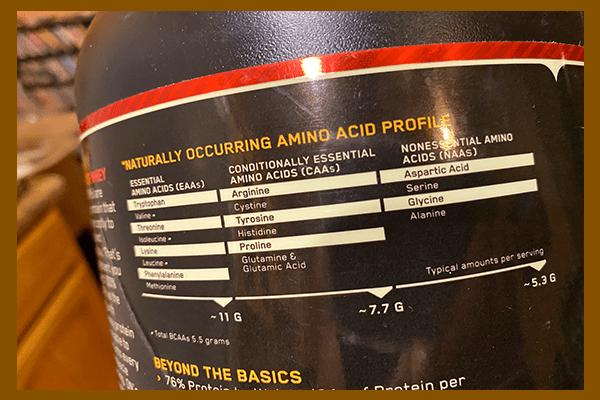 Optimum Nutrition Gold Standard Amino Acid profile - heydayDo image