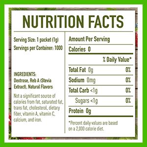 PureVia stevia ingredients - heydayDo image