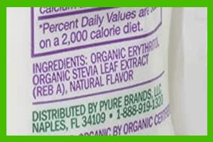 Pyure stevia ingredients - heydayDo image