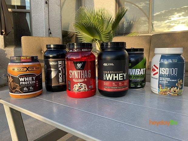 Some of the Top 10 selling protein powders these days -heydayDo image