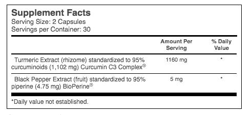 Vitacost Root2 C3 Curcumin supplement facts - heydayDo image
