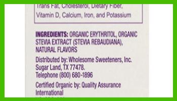Wholesome stevia ingredients - heydayDo image