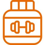 protein powder jug orange - heydayDo icon